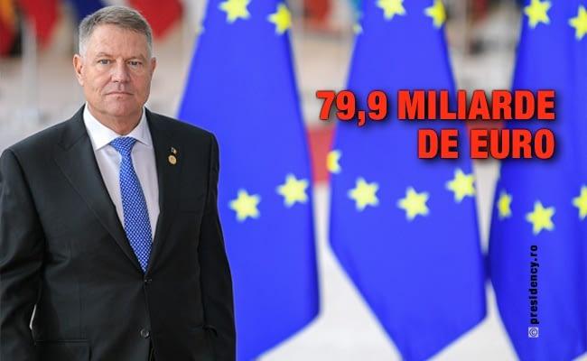 Klaus Iohannis, la Bruxelles: Am obținut pentru România o sumă impresionantă de 79,9 miliarde de euro pentru proiectele europene