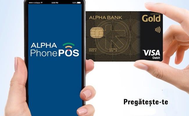 Alpha Bank Romania va lansa Alpha PhonePOS, aplicația care transformătelefonul mobil în POS