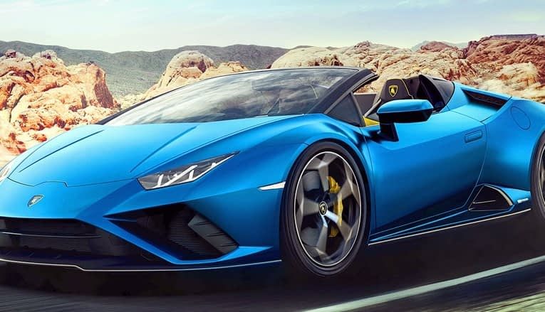 Lamborghini unveils the 2021 Huracán Evo Spyder sportscar with Rear-Wheel-Drive